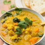 Cauliflower Sweet Potato Curry Soup