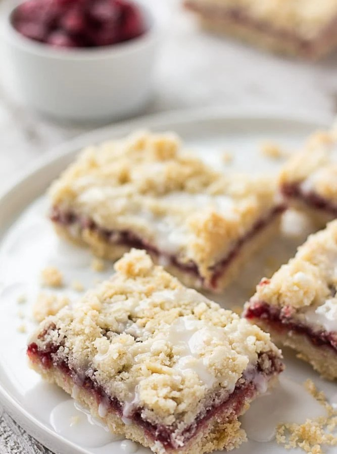 Vegan Raspberry Bars