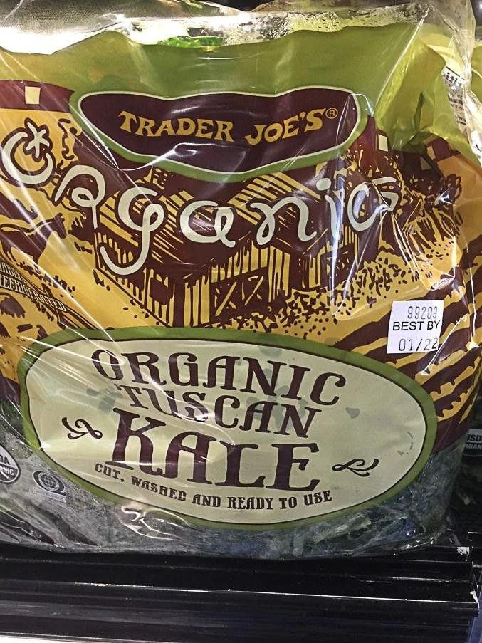 bag of packaged kale