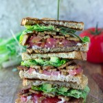 Vegan BLT Sandwich with Baked Tempeh Bacon