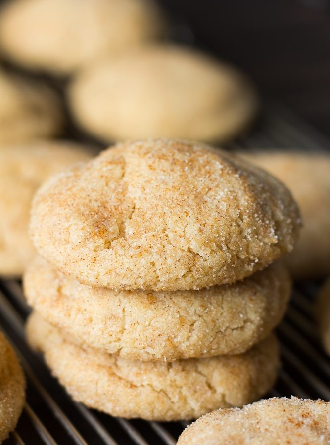 stack of 3 vegan snickerdoodles