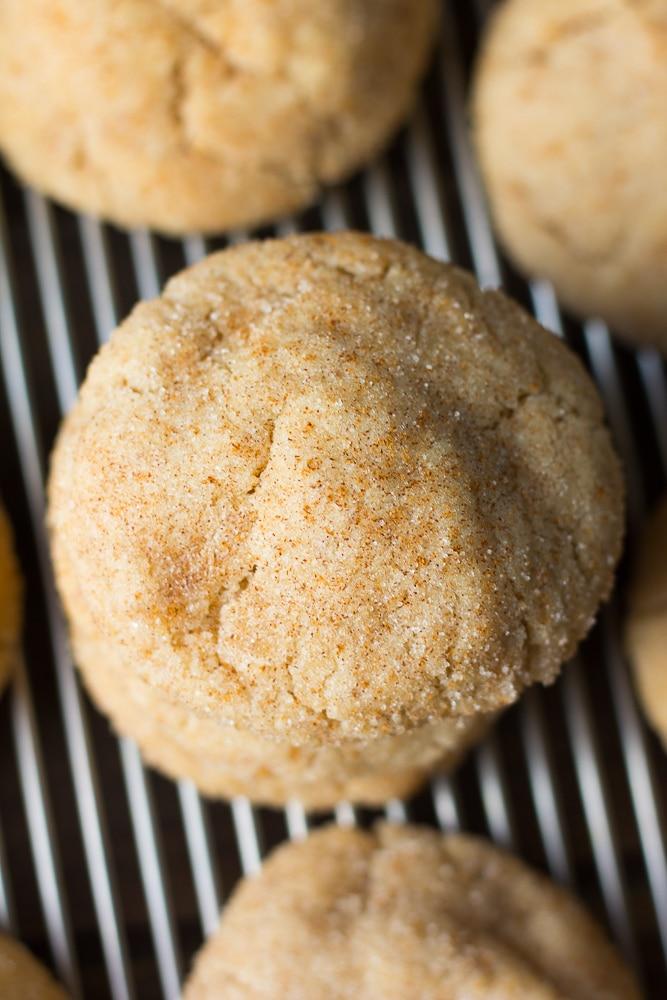 top of vegan snickerdoodles cookie