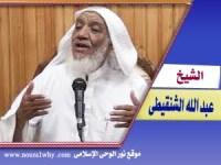 الشيخ عبد الله الشنقيطى