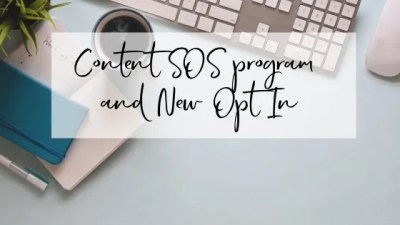 Content SOS program and New Opt In