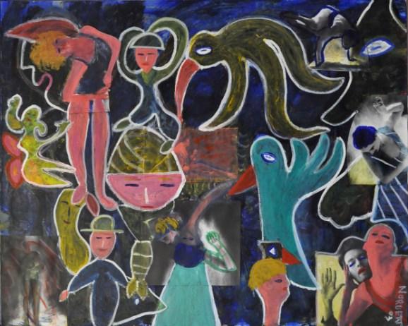 369 De Dansers, 2003, 80 x 100 gemengde techniek, gemengd, 550,-