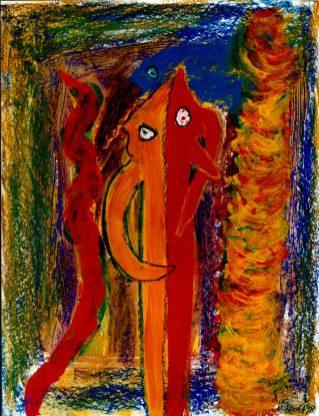 162 In Tweestrijd, 1998, 70 x 85, 450,-