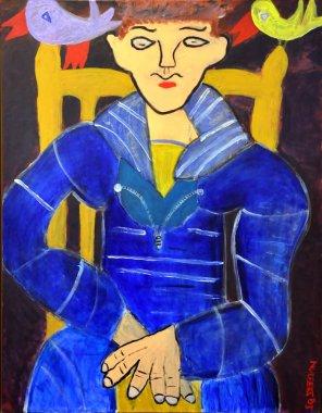 391 De Matroos, 2005, 70 x 90 cm, acryl, 500,-