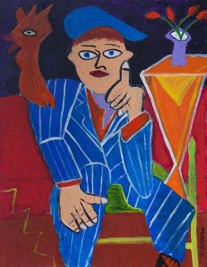 392 De Denker, 2006, 70 x 90 cm, acryl