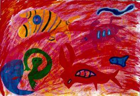 177 Rode Zee 1, 1999, 80 x 100, gemengd, verkocht