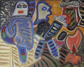 18 De Strijders, 1993 80 x 100 olie