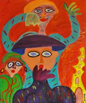 423 De Verbazing, 2012 120 x 100 acryl, 750,-