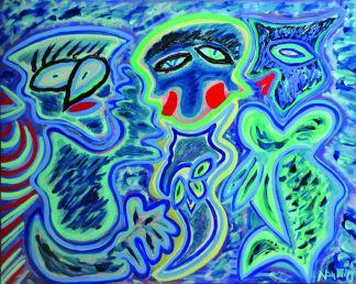48 Feeling Bl, 1996 80 x 100 olieverf, 550,-
