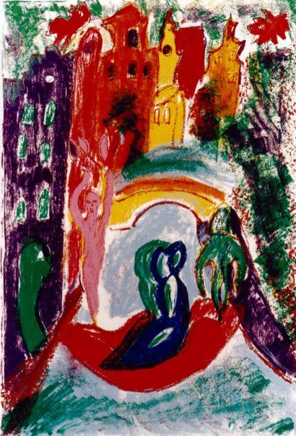 81 De Tulpenvrouw, 1996, 83 x 63, zeefdruk, 130,-
