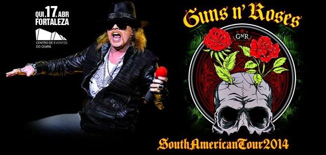 Ingressos Do Show De Guns N Roses Em Fortaleza Variam: Show Guns N' Roses Em Fortaleza 17/Abril Centro De Eventos