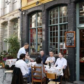 Restaurant-Terrasse im Alten Lille, © OTCL Lille / maxime dufour photographies