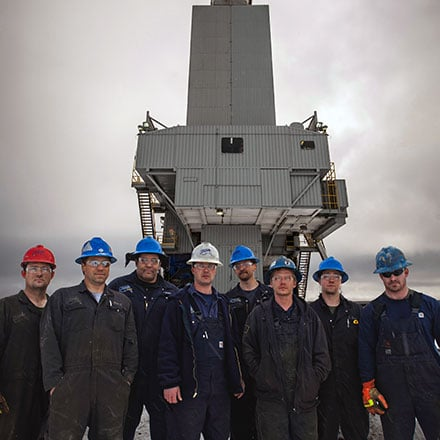 Rig Crew in front of Rig 3