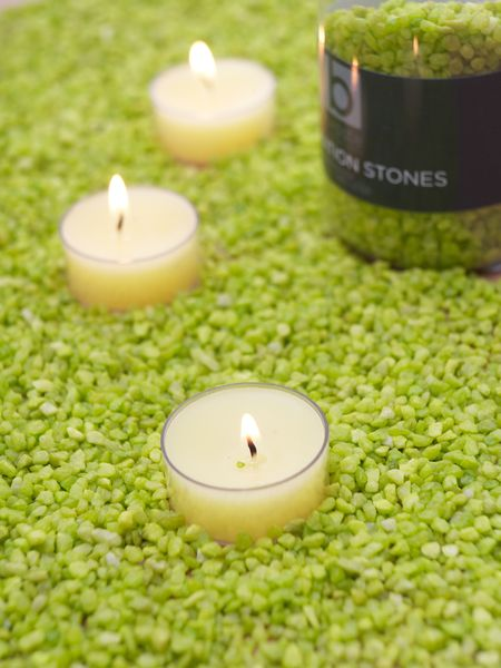 Lime Green Candle Gravel Decorative Candle Gravel