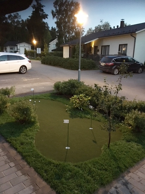 Golf greeni kotiin