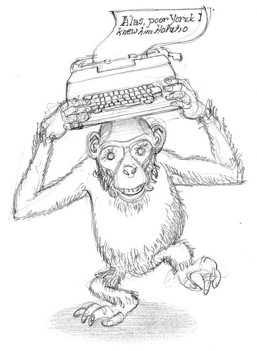 Monkey & Typewriter