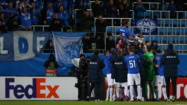 L'hommage des joueurs de Molde à leur capitaine