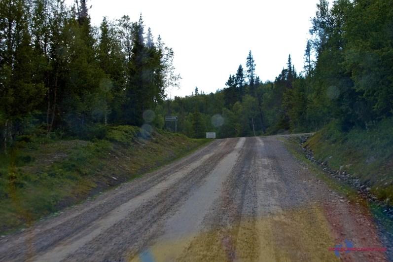 Straße südlich von Ljungsdalen