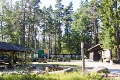 Zentraler Parkplatz im Tiveden Nationalpark