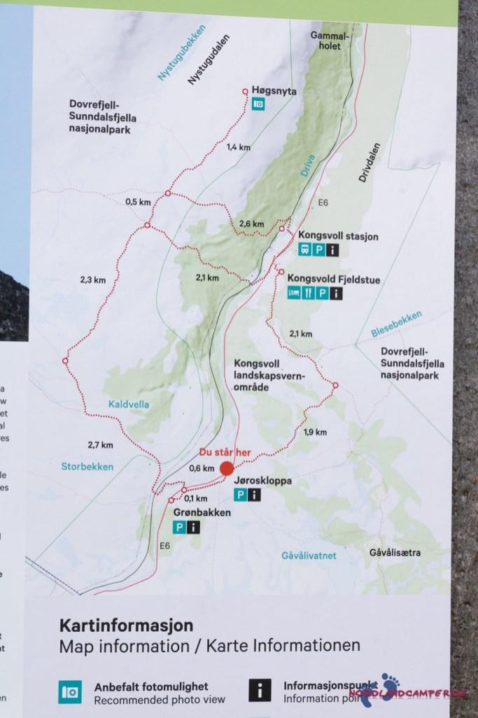 Wanderwege übers Fjell
