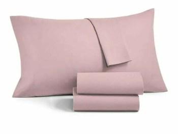 Federa guanciale rosa confetto 100% raso di cotone
