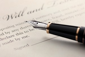 Last Will and Testament with Fountain Pen