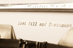 words last will and testament written on typewriter