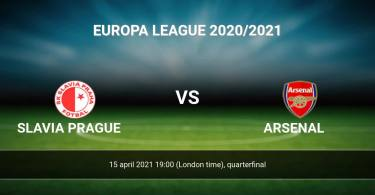 Slavia Prague Vs Arsenal Europa League