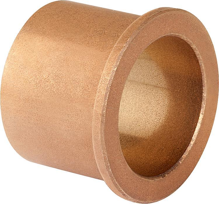 Norelem Plain Bearing Sintered Bronze With Collar