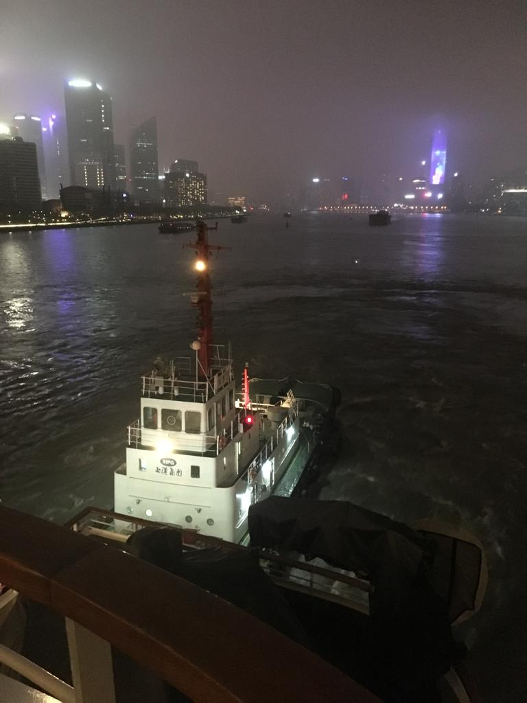 cruise leaving shanghai