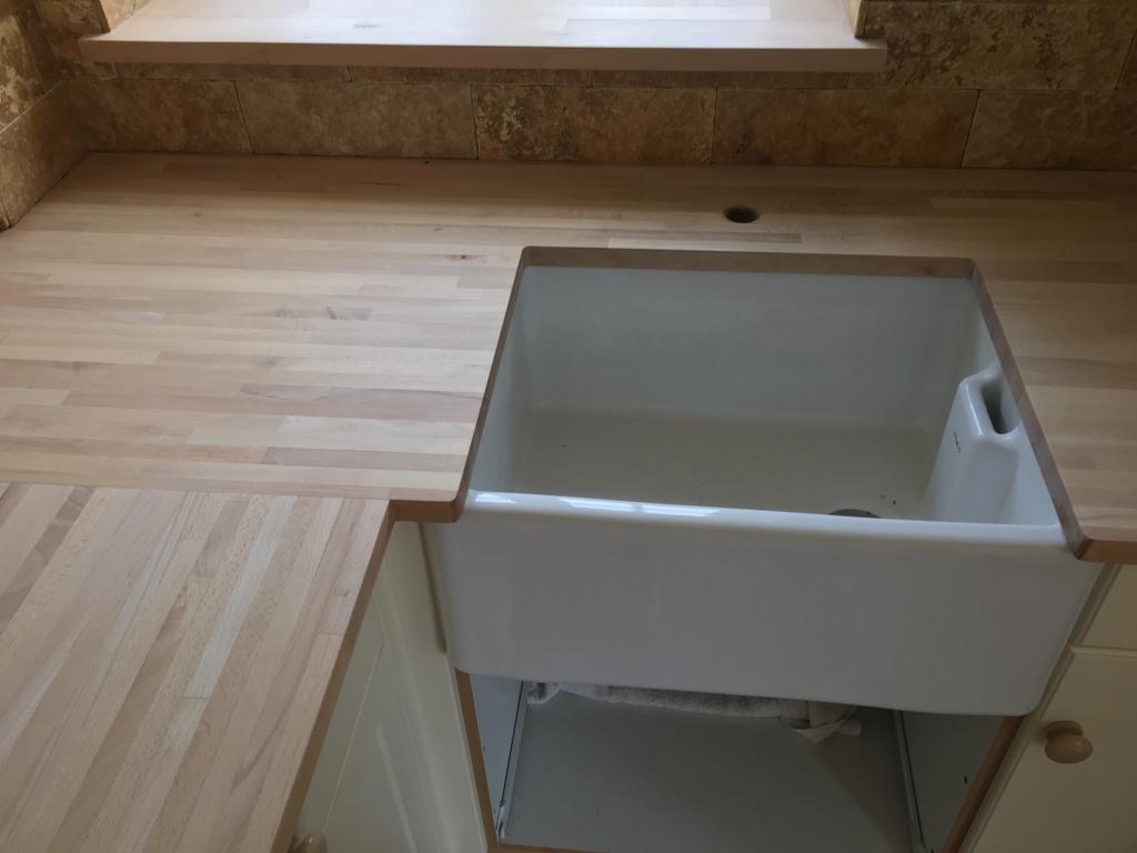 sanded kitchen worktop