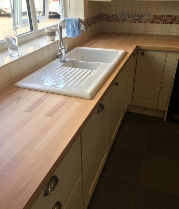 Taverham job- Matt finish kitchen worktops