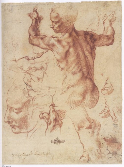 Study for a piece by Michelangelo