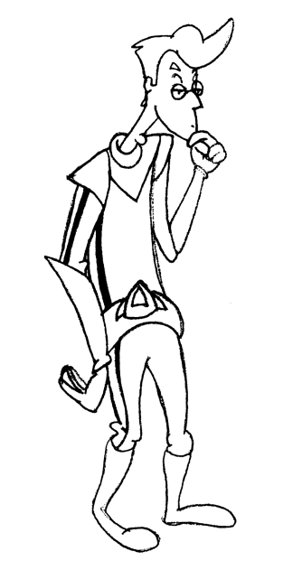 Early sketch of Virgil, one of the main characters