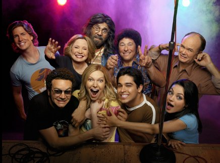 Cast pic from That 70s Show illustrating how nobody likes Randy