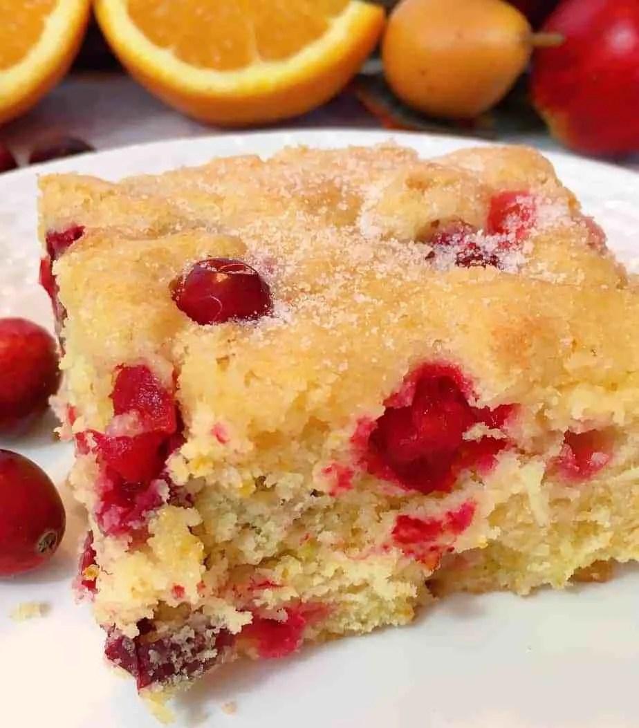 13. Cranberry Orange Buttermilk Coffee Cake