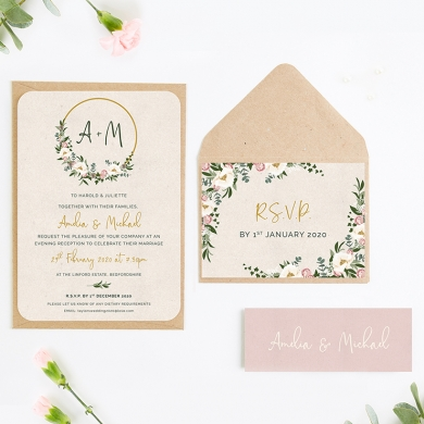 Wedding Invitations Designed Handmade Rustic