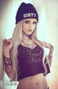 tattoo girl dirty