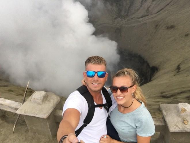 krater bromo vulkaan