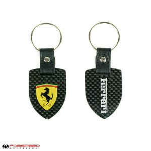 Ferrari Scuderia Shield Carbon Fiber Keyring