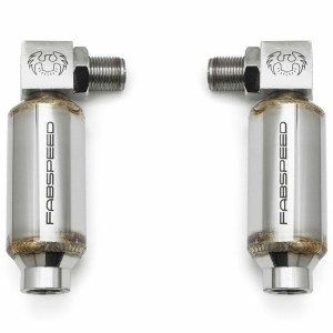 Universal 90 Degree O2 Spacers with Catalytic Converters - Pair