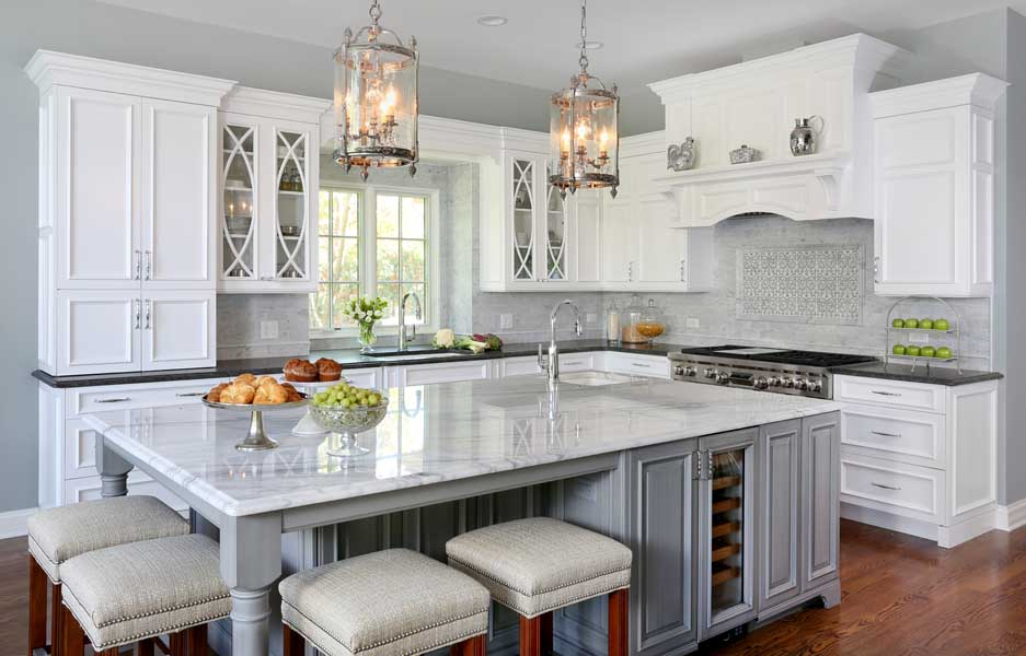 Traditional White Hinsdale Kitchen Remodel With A Hint Of