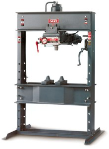"""Dake """"Elec-draulic"""" 75 Ton Hydraulic H-Frame Press, 5-075"""