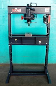 Dake 25 Ton Hand Operated Hydraulic H-Frame Press, 25H