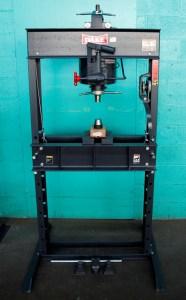 Dake 50 Ton Hand Operated Hydraulic H-Frame Press, 50H