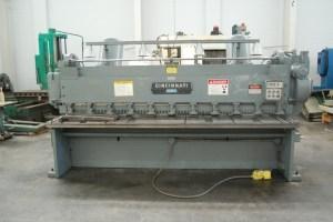 "Cincinnati 10' x 1/4"" Mechanical Shear w/ Front Operated Power Backgauge"