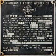 THOMSON 50 KVA PRESS-TYPE SPOT WELDER, A1-D